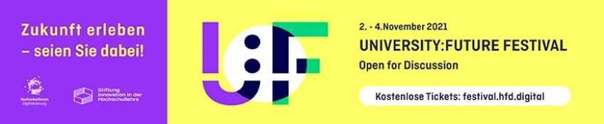 Banner zu University-Future-Festival